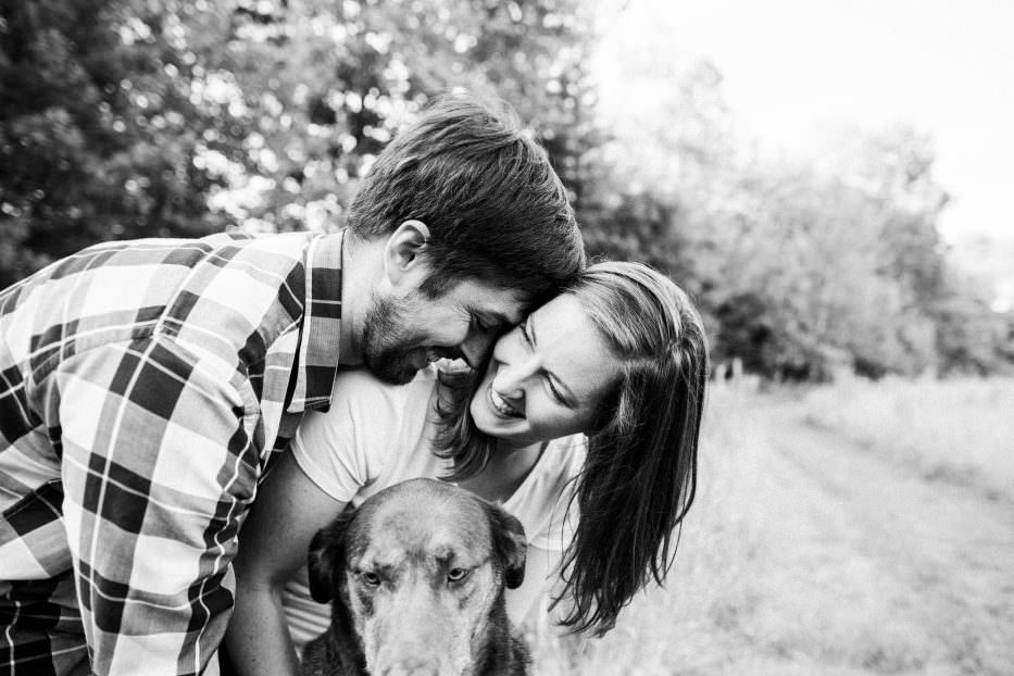 fun engagement photos on farm
